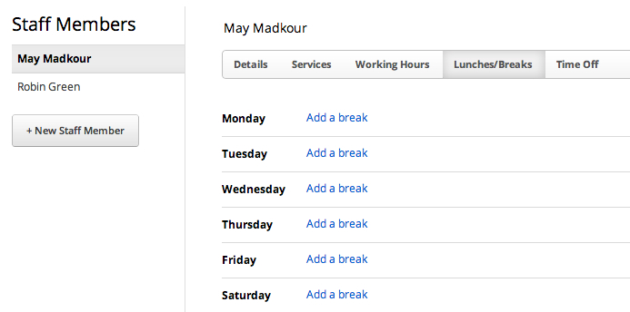 Related Keywords & Suggestions for lunch break schedule