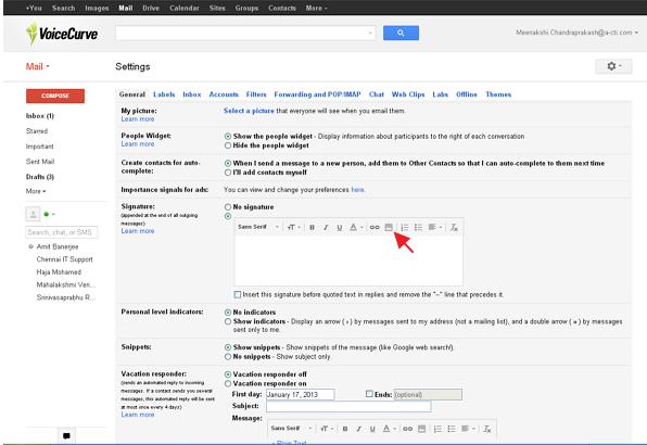 gmail image icon to obtain SetMore button