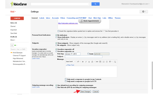 save gmail signature changes to embed SetMore appointment button