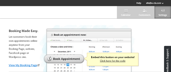 SetMore settings enables you to organize the booking page