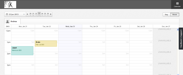 Staff login enables viewing only your own schedule