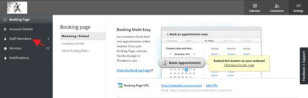 Create SetMore staff member login